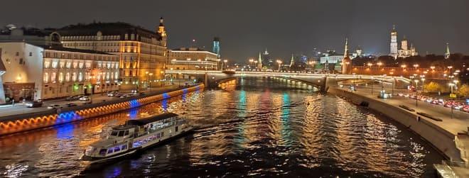 фото ночная прогулка по москве-реке